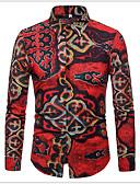 baratos Camisas Masculinas-Homens Camisa Social Moda de Rua Gráfico