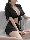 abordables Lencería de Mujer-Mujer Súper Sexy Traje Ropa de dormir - Lazo Un Color