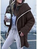 preiswerte Damen Jacken-Damen Alltag Grundlegend Standard Jacke, Solide Mit Kapuze Langarm Polyester Rosa / Beige / Grau M / L / XL / Lose