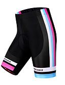 baratos Calças e Shorts Masculinos-WOSAWE Mulheres Bermudas Acolchoadas Para Ciclismo Moto Shorts / Shorts Acolchoados / Calças A Prova de Vento, Respirável, Tapete 3D Riscas Poliéster, Elastano Preto Avançado Ciclismo de Montanha