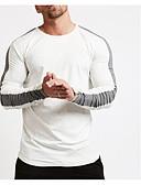 お買い得  新着 メンズシャツ-男性用 Tシャツ アジアン・エスニック ソリッド