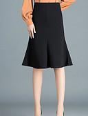 povoljno Ženske suknje-Žene Bodycon Aktivan Suknje - Jednobojni