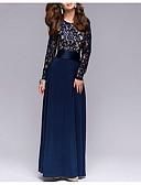 cheap Maxi Dresses-Women's Daily Elegant Maxi Sheath Dress Fall Blue M L XL