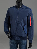 povoljno Muške jakne od perja i parke-Muškarci Dnevno Ulični šik Color block Padded, Poliester Dugih rukava Plava / Crn / Vojska Green