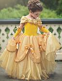 Χαμηλού Κόστους Φορέματα για κορίτσια-Πριγκίπισσα Καλλονή Βίντατζ Στολές Κοριτσίστικα Φορέματα Κοστούμι πάρτι Βυσσινί / Κίτρινο / Ροζ Πεπαλαιωμένο Cosplay Αμάνικο Φανέλα