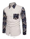 זול חולצות לגברים-פרחוני סגנון רחוב חולצה - בגדי ריקוד גברים