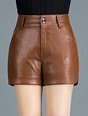 abordables Jupes-Femme Basique Grandes Tailles Quotidien Sortie Short Pantalon - Couleur Pleine Hiver Noir Chameau XXL XXXL XXXXL