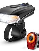 hesapli Deri-LED Bisiklet Işıkları Şarj Edilebilir Bisiklet Işık Seti Bisiklet Ön Işığı Bisiklet Arka Işığı Dağ Bisikletçiliği Bisiklet Su Geçirmez Portatif Çabuk Açılma Şarj Edilebilir Li-Ion Pil 1000 lm Şarj