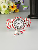 cheap Quartz Watches-FEIS Women's Ladies Bracelet Watch Quartz Chronograph Alloy Band Analog-Digital Fashion Silver - Red