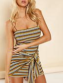 cheap Women's T-shirts-Women's Party Beach Asymmetrical Slim Shift Sheath Dress High Waist Boat Neck Yellow M L XL / Sexy