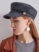 tanie Damskie czapki i kapelusze-Damskie Vintage / Impreza Beret / Melonik / Kaszkiet Solidne kolory