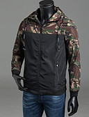 cheap Men's Downs & Parkas-Men's Active Plus Size Jacket - Camouflage, Classic Style Hooded / Long Sleeve