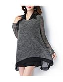 economico Bluse da donna-T-shirt Per donna Essenziale Tinta unita