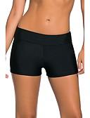 رخيصةأون ملابس السباحة والبيكيني 2017 للنساء-L XL XXL لون سادة, ملابس السباحة قعطة واحدة قطعة واحدة مثلث أسود دون الكتف أساسي نسائي / مثير