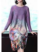 abordables Vestidos Estampados-Mujer Básico Tallas Grandes Algodón Pantalones - Floral / Geométrico Azul Piscina