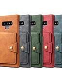 זול מגנים לטלפון-מגן עבור Samsung Galaxy Note 9 ארנק / מחזיק כרטיסים / עמיד בזעזועים כיסוי אחורי אחיד קשיח עור PU
