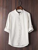 preiswerte Herrenhemden-Herrn Solide - Chinoiserie Hemd, Rundhalsausschnitt Beige L