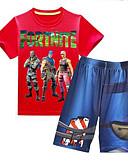 billige Tøjsæt til drenge-Baby Drenge Tegneserie Kortærmet Tøjsæt