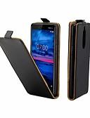 billige Mobilcovers-Etui Til Nokia Nokia 7 Kortholder / Flip Fuldt etui Ensfarvet Hårdt PU Læder for Nokia 7