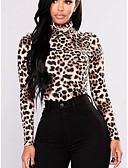 billige Topper til damer-T-skjorte Dame - Leopard Grunnleggende