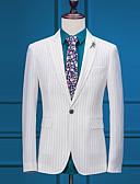 preiswerte Anzüge-Gestreift Reguläre Passform Polyester Anzug - Steigendes Revers Einreiher - 1 Knopf / Anzüge