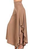 abordables Vestidos de Mujer-Mujer Básico Diario Corte Ancho Perneras anchas / Chinos Pantalones - Un Color Volante Alta cintura Morado Verde Ejército Caqui L XL XXL