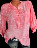 cheap Women-Women's Plus Size Shirt - Geometric Fashion / Print Shirt Collar Green XXXL / Spring / Summer / Fall / Winter
