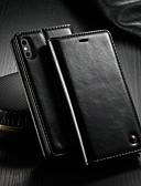 povoljno Maske za mobitele-Θήκη Za Apple iPhone XS Max Novčanik / Utor za kartice / sa stalkom Korice Jednobojni Tvrdo PU koža