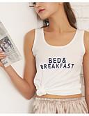 ieftine Bluze & Camisole Femei-femeile de sport supt cisternă de sus - scrisoare u gât