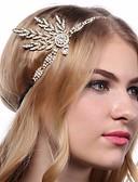halpa Vanhan maailman asut-Kultahattu 1920-luku Gatsby Roaring 20s Asu Naisten Päähine Flapper-panta Headwear Valkoinen / Musta / Kultainen Vintage Cosplay