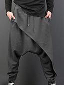 お買い得  メンズパンツ&ショーツ-男性用 ベーシック スウェットパンツ パンツ - ソリッド ハイウエスト ブラック