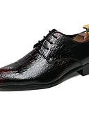 olcso Örömanya ruhák-Férfi Formális cipők Szintetikus Tavasz & Ősz Alkalmi / Brit Félcipők Csúszásmentes Fekete / Bor