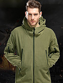 cheap Men's Shirts-Men's Hiking Fleece Jacket outdoor Autumn / Fall Winter Windproof Thick Polyster Softshell Jacket Single Slider Military Hunting and Fishing Camping / Hiking / Caving Black