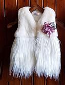 levne Dětské bundičky a kabátky-Dítě Dívčí Šik ven Denní Jednobarevné Třásně Bez rukávů Standardní Polyester Bundičky a kabáty Bílá