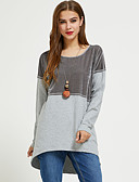 cheap Women's Tops-Suzanne Betro women's cotton loose t-shirt - solid colored round neck