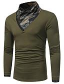 お買い得  メンズTシャツ&タンクトップ-男性用 Tシャツ ストリートファッション タートルネック カモフラージュ ホワイト XL / 長袖