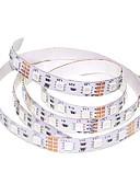 tanie Do sukni/garnituru-SENCART 1 m Elastyczne taśmy LED 60 Diody LED 5050 SMD Ciepła biel / RGB / Biały Nadaje się do krojenia / Możliwość połączenia / Odpowiednie do samochodu 12 V 1 szt. / Samoprzylepne / IP44