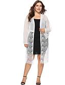 お買い得  プラスサイズドレス-女性用 ブラウス ストリートファッション ソリッド
