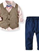 povoljno Haljine za djevojčice-Djeca Dječaci Osnovni Jednobojni Dugih rukava Normalne dužine Komplet odjeće Obala