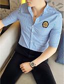 povoljno Muške košulje-Majica Muškarci Dnevno Prugasti uzorak Kineski ovratnik Slim, Print