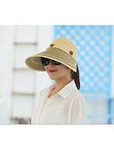 halpa Naisten hatut-Naisten Perus Aurinkohattu-Yhtenäinen Olki Punastuvan vaaleanpunainen Vaalean sininen Khaki