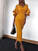 お買い得  マキシドレス-女性用 ベーシック / ストリートファッション シース ドレス ソリッド マキシ