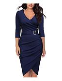 preiswerte Etuikleider-Damen Grundlegend A-Linie Kleid Midi