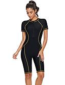 Χαμηλού Κόστους One-piece swimsuits-Γυναικεία Βασικό Μαύρο Ανδρικά μαγιό Ένα κομμάτι Μαγιό - Συνδυασμός Χρωμάτων XL XXL XXXL Μαύρο / Sexy