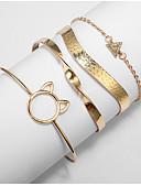 זול תכשיטים אופנתיים-בגדי ריקוד נשים שכבות מרובות סגסוגת רחוב / צמיד