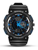 Недорогие Спортивные часы-Муж. Спортивные часы электронные часы Цифровой силиконовый Черный Защита от влаги Фосфоресцирующий Цифровой На каждый день Мода - Черный / Красный Черный / Белый Черный / Синий