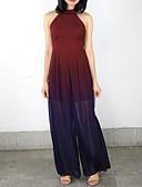 cheap Women's Jumpsuits & Rompers-Women's Daily Gray Purple Wine Jumpsuit, Color Block S M L Sleeveless