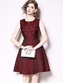 cheap Evening Dresses-A-Line Jewel Neck Knee Length Jersey Cocktail Party Dress with Side Draping by LAN TING Express