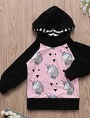 povoljno Majice s kapuljačama i trenirke za bebe-Dijete Djevojčice Ulični šik Dnevno Print Dugih rukava Trenirka s kapuljačom Crn / Dijete koje je tek prohodalo