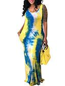 رخيصةأون فساتين طويلة-فستان نسائي ثوب ضيق أساسي طويل للأرض ألوان متناوبة